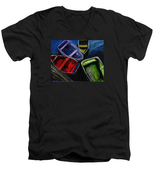 Colliding Skiffs Men's V-Neck T-Shirt