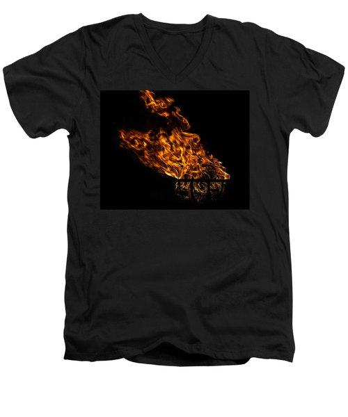Fire Cresset Men's V-Neck T-Shirt