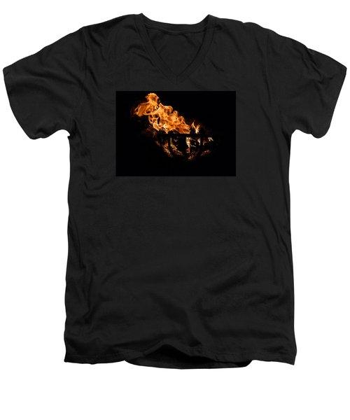 Fire Cresset Two Men's V-Neck T-Shirt