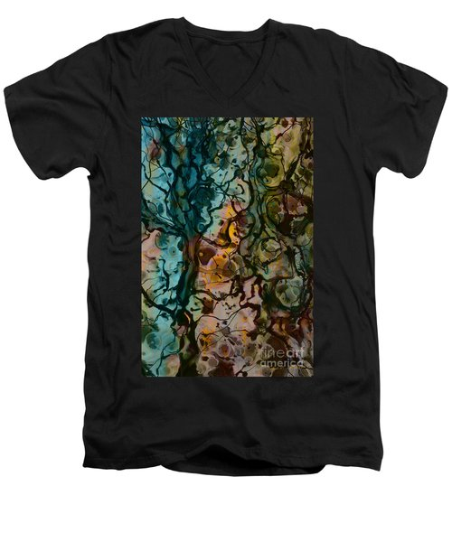Color Abstraction Xvi Men's V-Neck T-Shirt