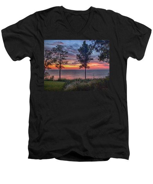 Color Explosion Men's V-Neck T-Shirt