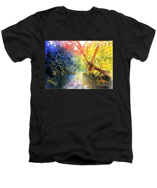 Color Of Trees Men's V-Neck T-Shirt