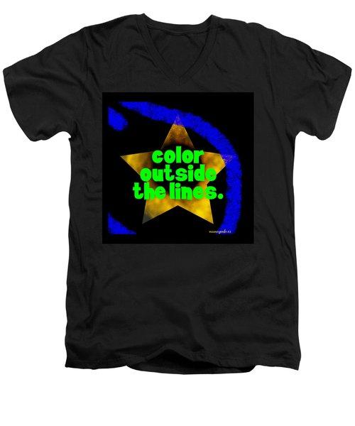 Color Outside The Lines Men's V-Neck T-Shirt