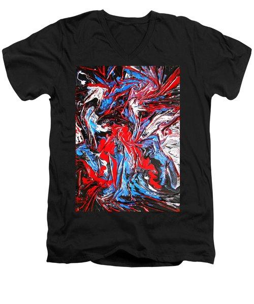 Colorful Chaos Men's V-Neck T-Shirt