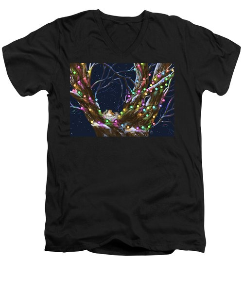 Colorful Christmas Men's V-Neck T-Shirt