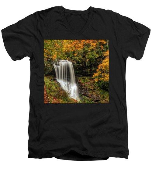 Colorful Dry Falls Men's V-Neck T-Shirt