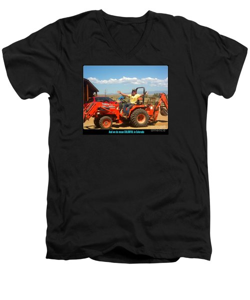 Colorful In Colorado Men's V-Neck T-Shirt by Kelly Awad