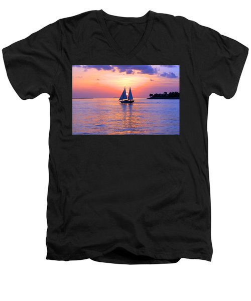 Colors Of Sunset Men's V-Neck T-Shirt