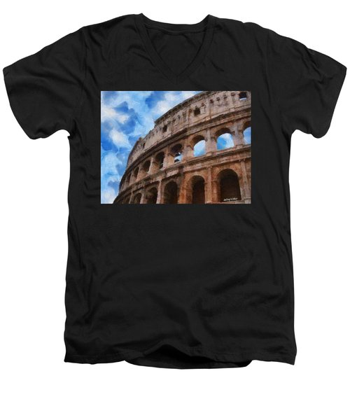 Colosseo Men's V-Neck T-Shirt