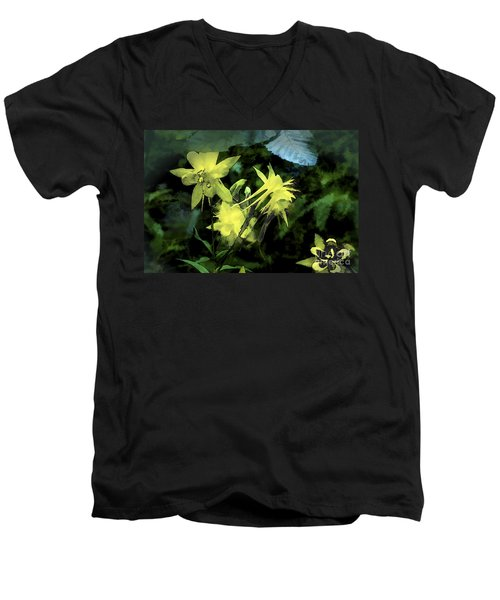 Columbines Painterly Men's V-Neck T-Shirt