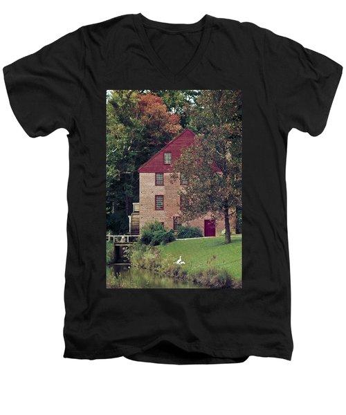 Colvin Run Mill Men's V-Neck T-Shirt by Greg Reed