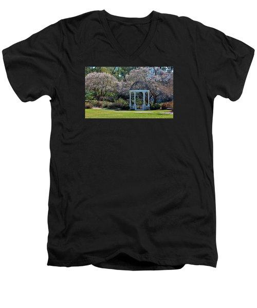 Come Into The Garden Men's V-Neck T-Shirt by Cynthia Guinn
