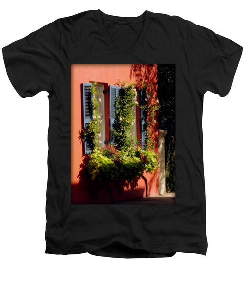 Come To My Window Men's V-Neck T-Shirt by Karen Wiles