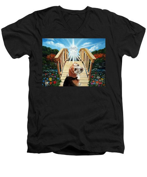 Come Walk With Me Over The Rainbow Bridge Men's V-Neck T-Shirt