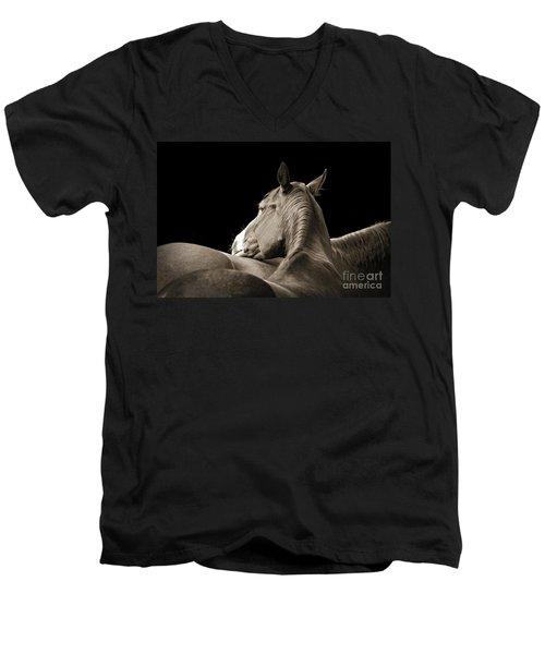 Comfort Men's V-Neck T-Shirt by Michelle Twohig