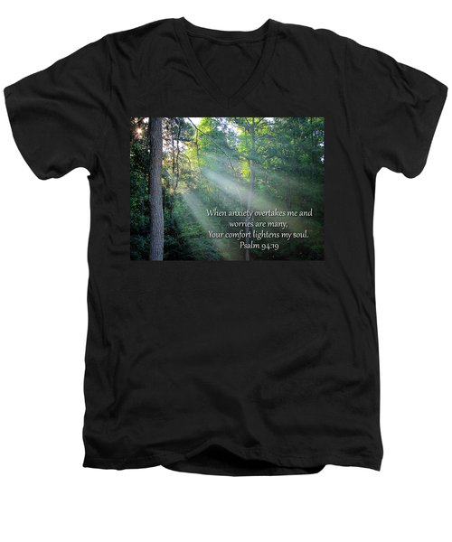 Men's V-Neck T-Shirt featuring the photograph Comfort by Greg Simmons