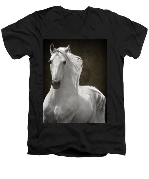 Coming Your Way Men's V-Neck T-Shirt by Wes and Dotty Weber