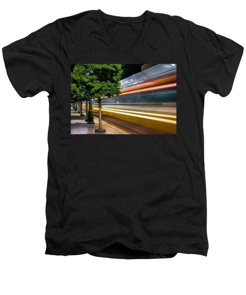 Dallas Commuter Train 052214 Men's V-Neck T-Shirt