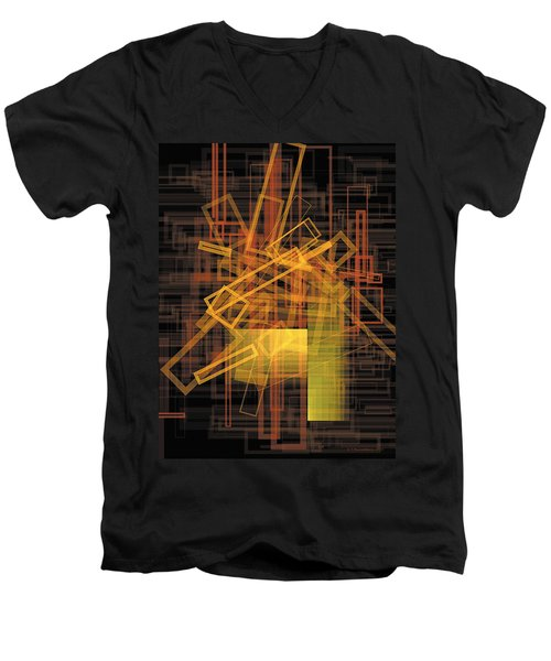 Composition 26 Men's V-Neck T-Shirt by Terry Reynoldson