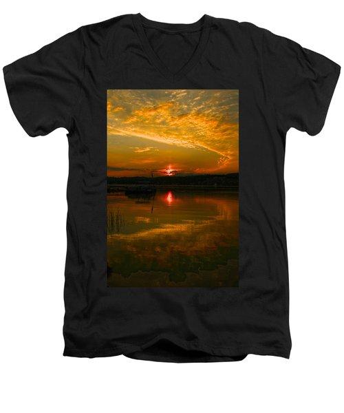 Conesus Sunrise Men's V-Neck T-Shirt
