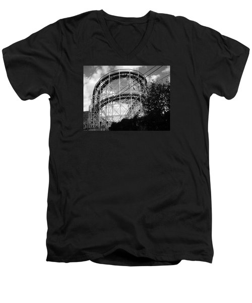 Coney Island Roller Coaster Men's V-Neck T-Shirt