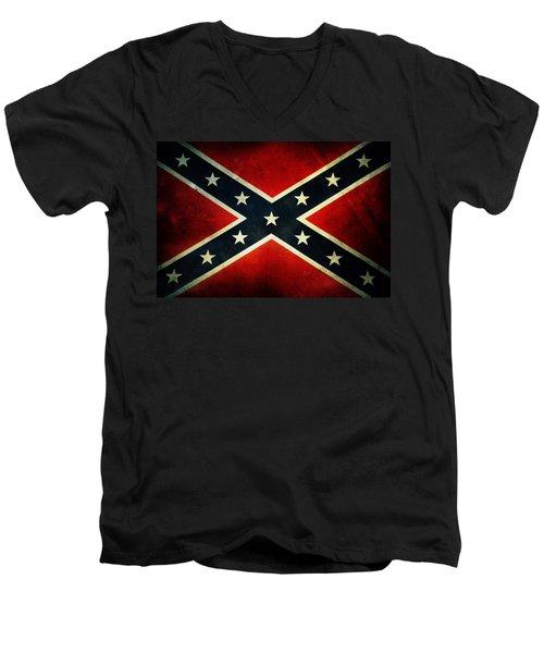 Confederate Flag 4 Men's V-Neck T-Shirt