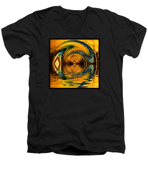 Confusion Of Distortion  Men's V-Neck T-Shirt by Elizabeth McTaggart