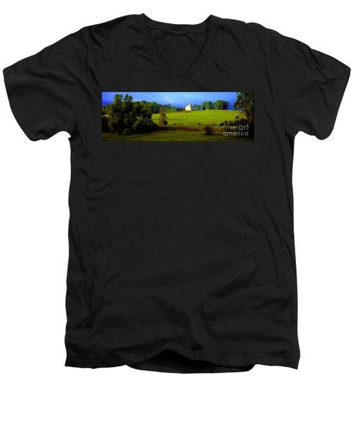 Conley Road Farm Spring Time Men's V-Neck T-Shirt