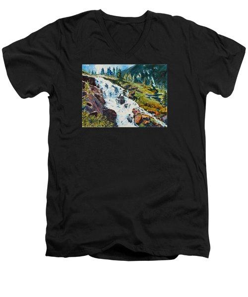 Continental Falls Men's V-Neck T-Shirt