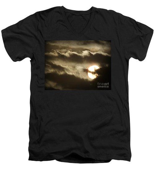 Contrast Men's V-Neck T-Shirt by Clare Bevan