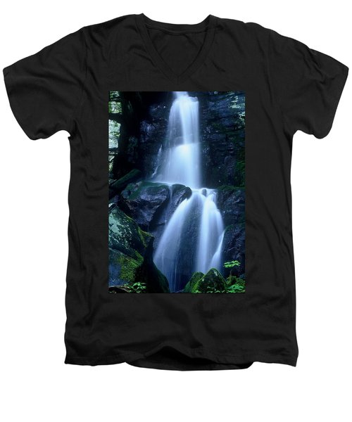 Men's V-Neck T-Shirt featuring the photograph Cool Sanctuary by Rodney Lee Williams