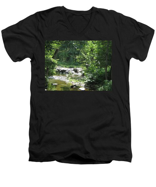 Men's V-Neck T-Shirt featuring the photograph Cool Waters II by Ellen Levinson