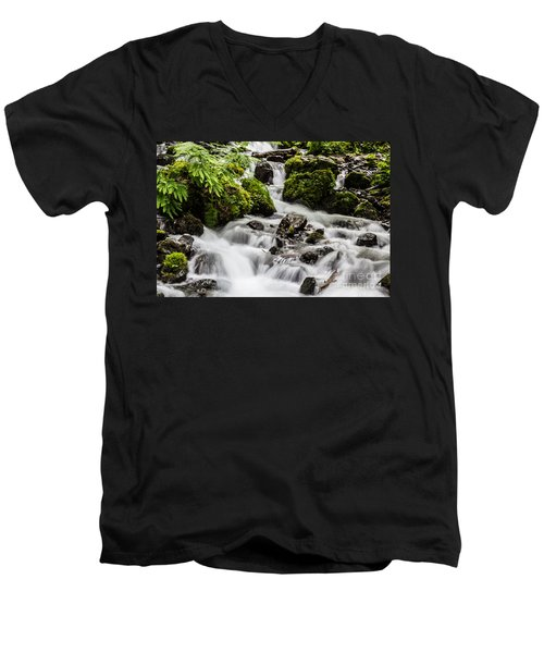 Men's V-Neck T-Shirt featuring the photograph Cool Waters by Suzanne Luft