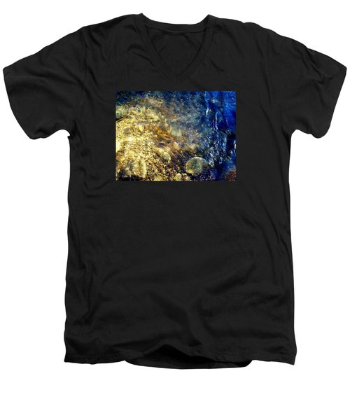 Men's V-Neck T-Shirt featuring the photograph Cool Waters...of The Rifle River by Daniel Thompson