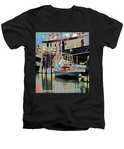Coos Bay Harbor Men's V-Neck T-Shirt