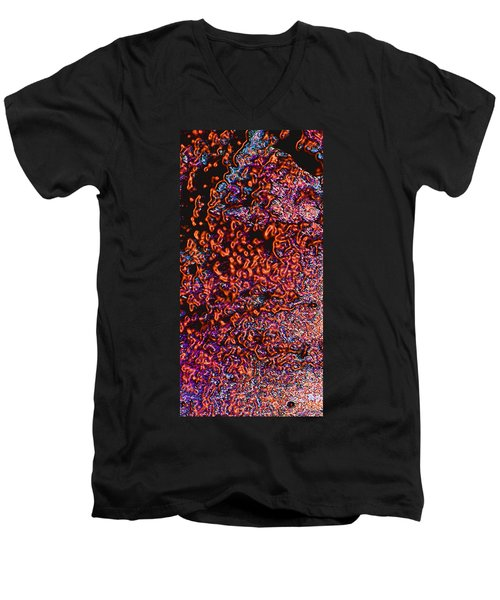 Men's V-Neck T-Shirt featuring the photograph Copper Glow 2 by Stephanie Grant
