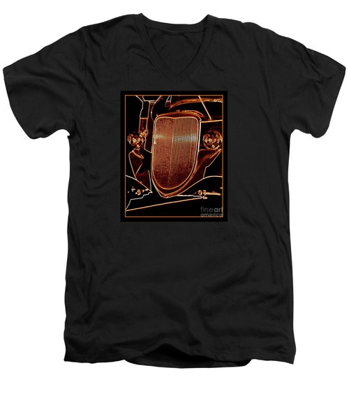 Men's V-Neck T-Shirt featuring the photograph Copper Works by Bobbee Rickard