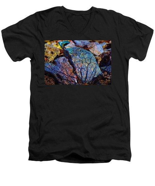 Coral Beached Men's V-Neck T-Shirt