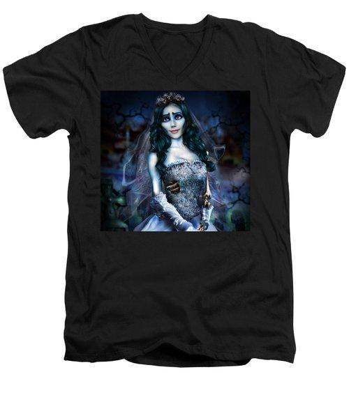 Corpse Bride Men's V-Neck T-Shirt by Alessandro Della Pietra