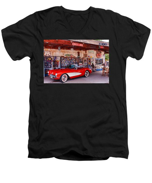 Corvette Drive Rt 66 Men's V-Neck T-Shirt
