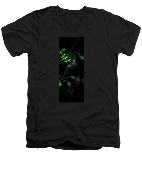 Cosmic Alien Eyes Original 2 Men's V-Neck T-Shirt by Shawn Dall