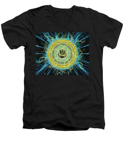 Cosmic Circle Fusion Men's V-Neck T-Shirt