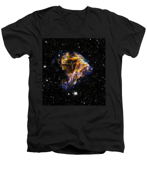 Cosmic Heart Men's V-Neck T-Shirt by Jennifer Rondinelli Reilly - Fine Art Photography