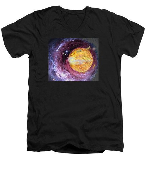 Men's V-Neck T-Shirt featuring the photograph Cosmic by Kathy Bassett