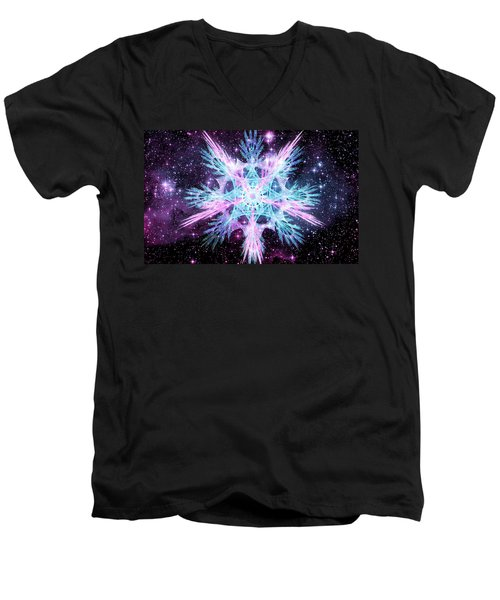 Cosmic Starflower Men's V-Neck T-Shirt