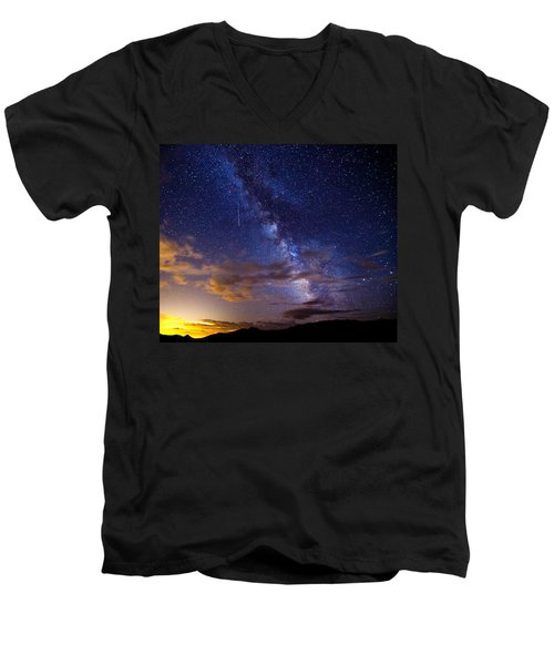 Cosmic Traveler  Men's V-Neck T-Shirt