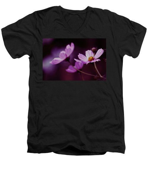 Men's V-Neck T-Shirt featuring the photograph Cosmo After Glow by Kay Novy