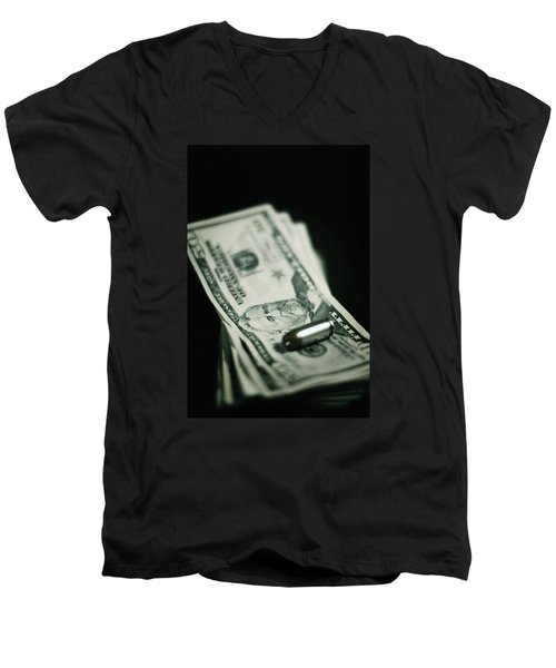 Cost Of One Bullet Men's V-Neck T-Shirt