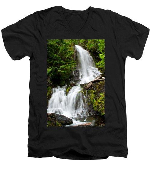 Cougar Falls Men's V-Neck T-Shirt