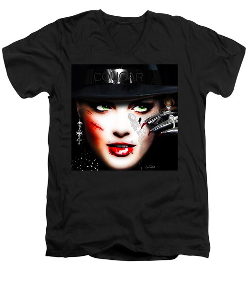 Cougar Men's V-Neck T-Shirt